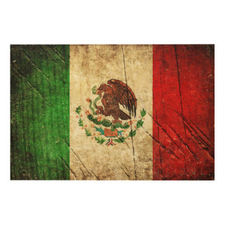 Distressed Country Flags | Mexico Wood Wall Art