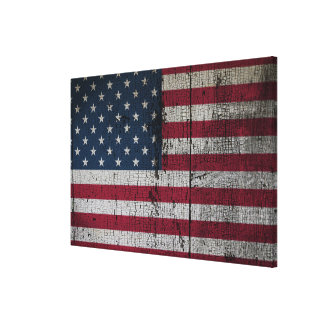 Distressed Country Flags | United States Canvas Print