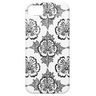 Distressed damask floral hibiscus flower pattern iPhone 5 cover