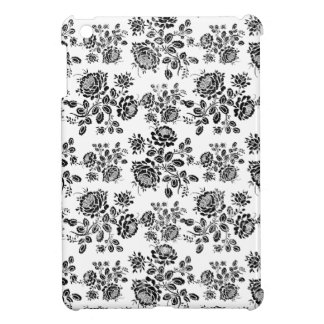 Distressed damask floral roses flowers pattern iPad mini case