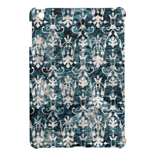 Distressed Denim Damask iPad Mini Case
