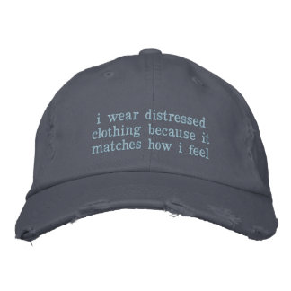 Distressed Embroidered Hat