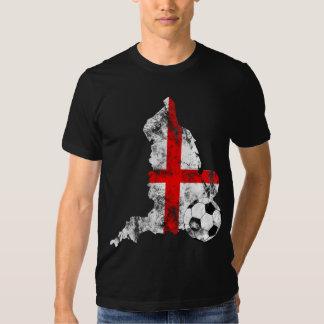Distressed England Soccer Tshirt