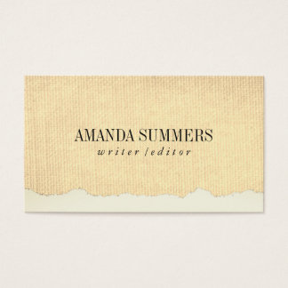 Distressed Fabric Business Card