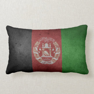 Distressed Flag of Afghanistan Lumbar Cushion
