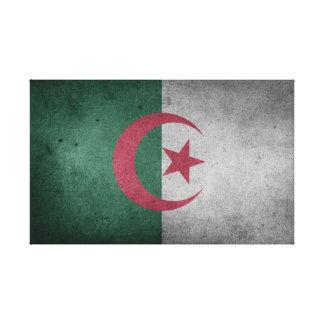 Distressed Flag of Algeria Canvas Print