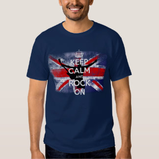 Distressed Flag of the United Kingdom Rock on Shirts