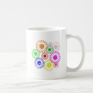 Distressed Flower Burst Coffee Mug