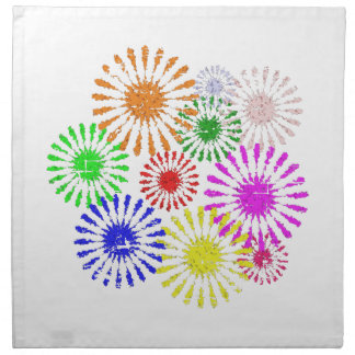 Distressed Flower Burst Napkin