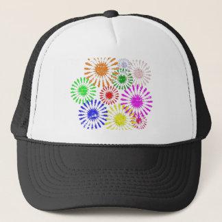 Distressed Flower Burst Trucker Hat