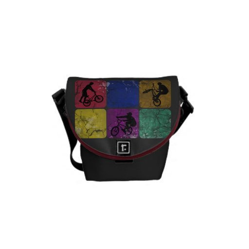 Distressed Freestyle Biker Mini Messenger Bag