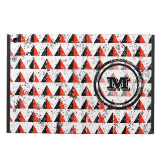 Distressed Geometric Monogram Cover For iPad Air