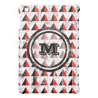 Distressed Geometric Monogram Cover For The iPad Mini
