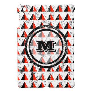 Distressed Geometric Monogram iPad Mini Cover