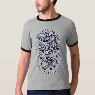 Distressed Glowing Day of the Dead Skulls T-Shirt