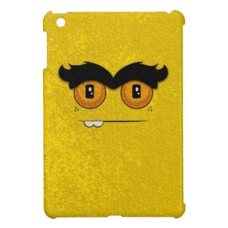Distressed Gold Funny Face Unibrow Monster Cover For The iPad Mini