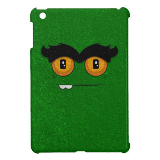 Distressed Green Funny Face Unibrow Monster iPad Mini Covers