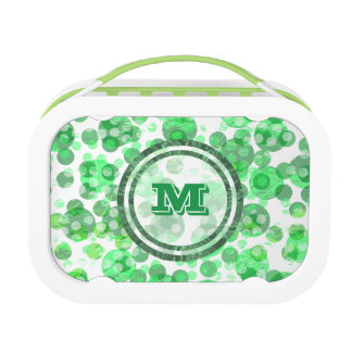 Distressed Green Monogram Lunchboxes