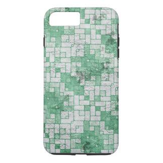 Distressed Green White Blocks Pattern iPhone 7 Plus Case