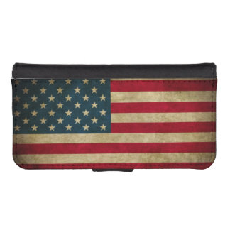Distressed Grunge American Flag iPhone 5 Wallet