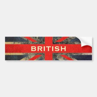 Distressed Grunge Mod Union Jack Bumper Sticker