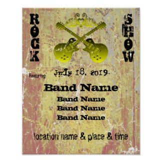 Distressed Grunge Rock Show Customisable Poster