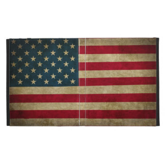 Distressed Grunge USA American Flag iPad Folio Cover