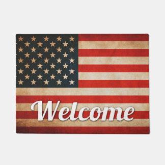 Distressed Grunge USA American Flag Doormat