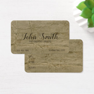 Distressed Grungy Aged Stained Ancient Background Business Card