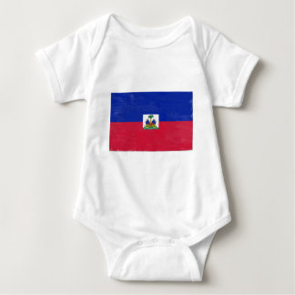 Distressed Haitian flag Baby Bodysuit