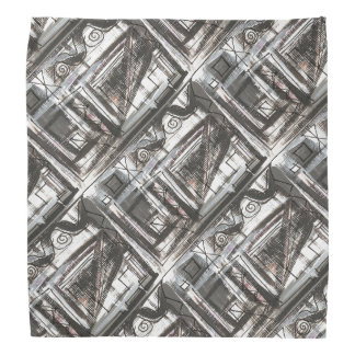 Distressed-Hand Painted Abstract Brushstrokes Bandana