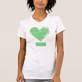 Distressed Heart Design T-Shirt