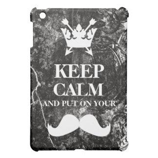 Distressed Heraldry Keep Calm Mustache Ipad Case iPad Mini Covers