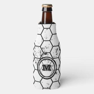 Distressed Honeycomb Monogram Pattern