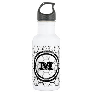 Distressed Honeycomb Monogram Pattern 532 Ml Water Bottle