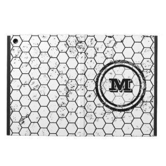 Distressed Honeycomb Monogram Pattern iPad Air Covers