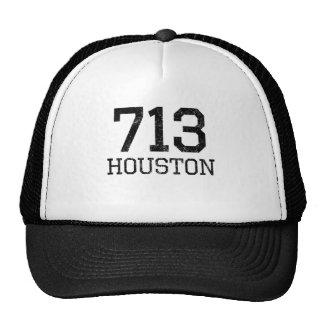 Distressed Houston 713 Trucker Hat