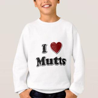 Distressed I Heart Mutts Design Sweatshirt