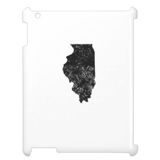 Distressed Illinois Silhouette Case For The iPad