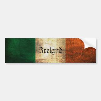 Distressed Irish Flag Bumper Sticker