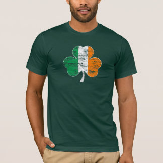 Distressed Irish Flag Shamrock T-Shirt