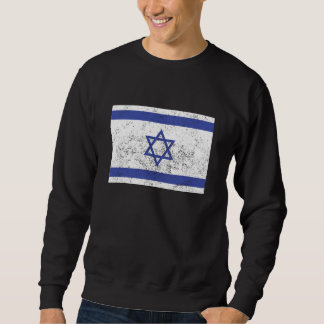 Distressed Israel Flag Sweatshirt