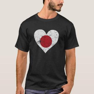 Distressed Japanese Flag Heart T-Shirt