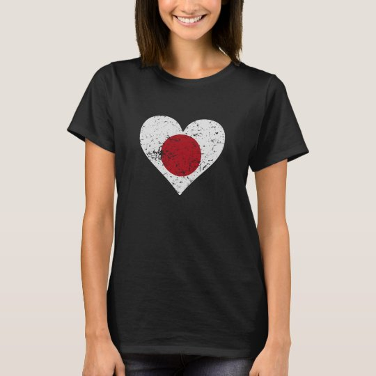 Distressed Japanese Flag Heart T-Shirt