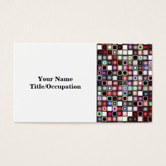 Distressed Jewel Tones Textured Tiles Pattern Business Card