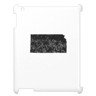 Distressed Kansas Silhouette Cover For The iPad