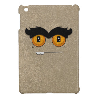 Distressed Khaki Funny Face Unibrow Monster Cover For The iPad Mini