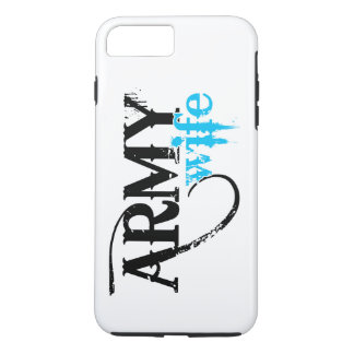 Distressed Lettering Army Wife iPhone 7 Plus Case