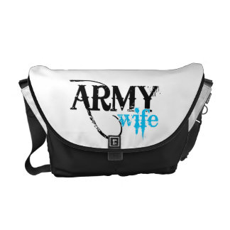 Distressed Lettering Army Wife Commuter Bags
