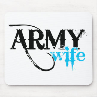 Distressed Lettering Army Wife Mouse Pad
